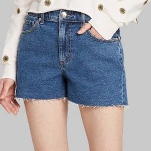 Wild Fable high rise mom jean shorts